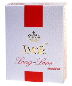 Prezerwatywy Opóźniające Wytrysk Kropkowane Amor Studded 3 sztuki