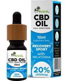 Olejek konopny 20% CBD z melatoniną Recovery Sport
