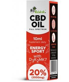 olejek konopny 20% z witaminami D3 + K2Mk7