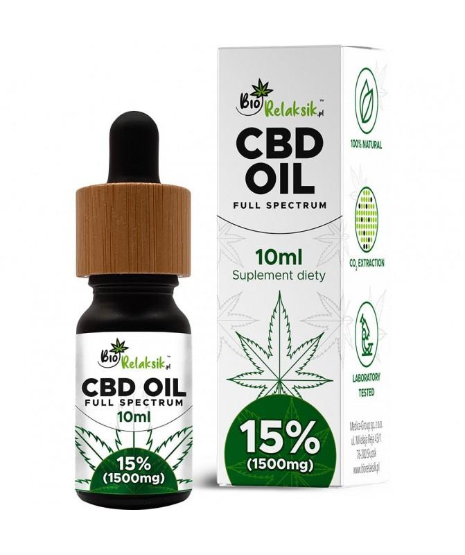 Olejek konopny 15% CBD Full Spectrum 10 ml